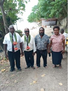 Franklyn and his wife, Rose (far right).[Photo Courtesy of Advetist Record]