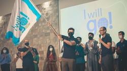 """Fadba missionaries participate in the launch of """"I Will Go."""" (Photo: Fadba)."""