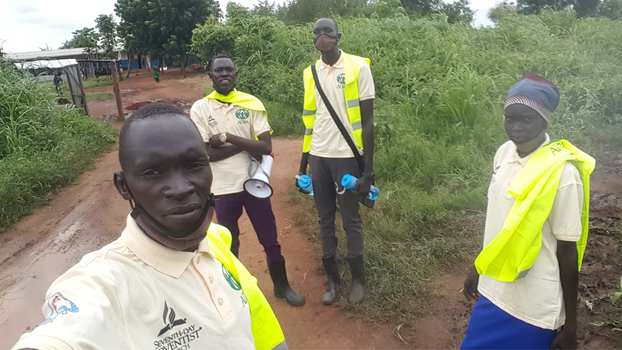 CORE project volunteers at work in a local community in South Sudan. [ADRA Sudan]