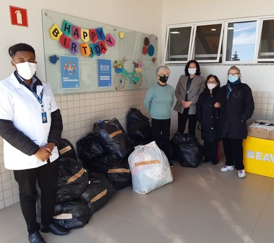 In just four days, the school collected more than 1,000 pieces of clothing [Photo Courtesy of the South American Division]
