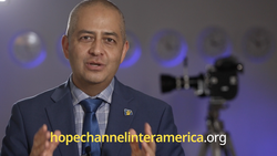 Abel Márquez, executive director for Hope Channel Inter-America, speaks during a short social media post on September 15, 2021, announcing the five-year anniversary of the channel since its official launch in 2016. Hope Channel is looking to expand to additional media centers in Inter-American Division institutions, universities, and unions, as well as expand programming on social media platforms. [Photo: IAD Screenshot]