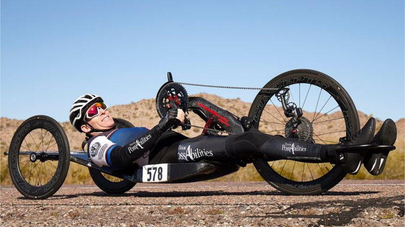 Athlete resumes para-cycling after battling blood cancer