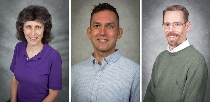 Southern Adventist University professors Lucinda Hill, David Nelsen, and Mitch Menzmer [Photo provided by Southern Adventist University]