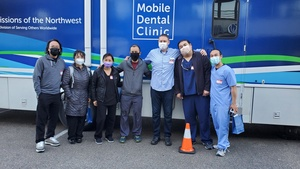 [Photo Credit: The team of volunteers at the LifeBridge dental clinic in Tacoma, Washington; Photo provided by the North Pacific Union Gleaner]