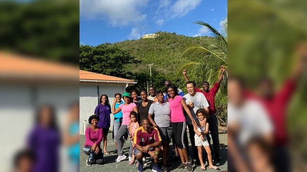 A group of the Newstart Walkers of the Maranatha Adventist Church in Tortola, British Virgin Islands, pose for a photo after a recent Sunday morning walk. The new walking ministry was created during the pandemic lockdown and has been effective in reaching many in the surrounding community. [Photo: Khoy Smith]