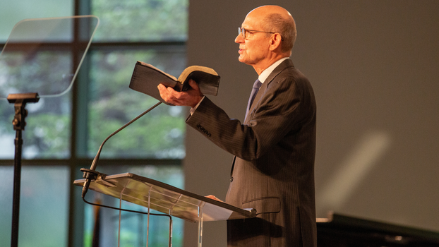 Ted N.C. Wilson, General Conference President, delivers the Sabbath Sermon at the 2021 Annual Council in Silver Spring, Maryland, United States of America. (Photo: Brent Hardinge / ANN)