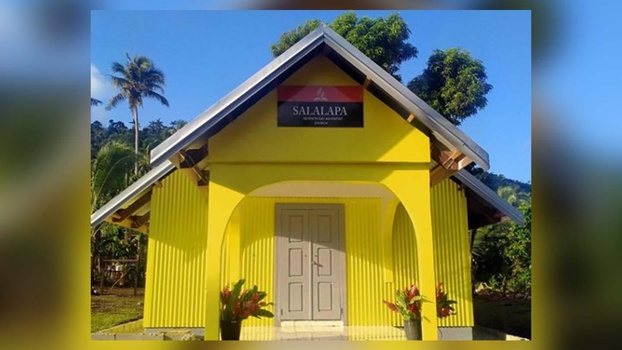 Salalapa Adventist Church, built by the Enra Basket ministry in Araki Island. [Photo Courtesy of Advetist Record]