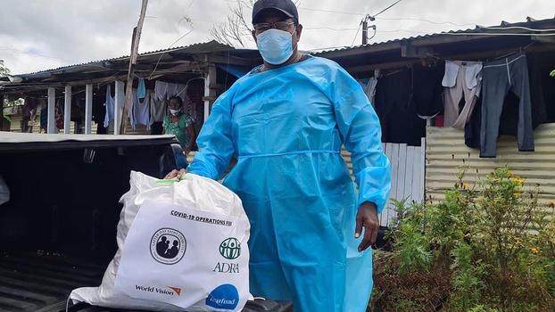 Distribution of food kits has been one of ADRA's key initiatives. (Photo credit: ADRA Fiji, Facebook)